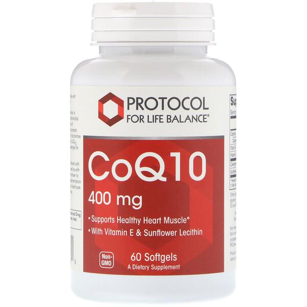 CoQ10, 400 мг, 60 мягких желатиновых капсул