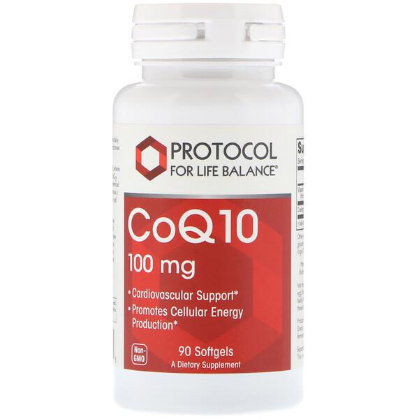 CoQ10, 100 мг, 90 мягких таблеток