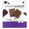 BNRG, Протеиновый энергетический батончик Power Crunch, оригинальная рецептура, тройной шоколад, 12батончиков, 40г (1,4унции) каждый