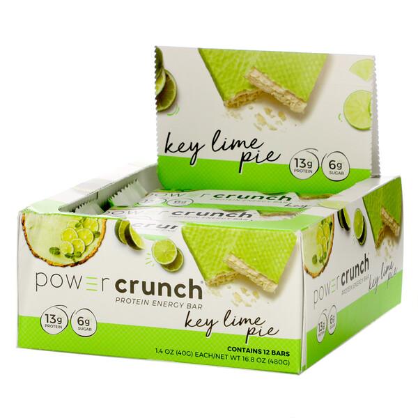 Power Crunch Protein Energy Bar, Key Lime Pie, 12 Bars, 1.4 oz (40 g) Each