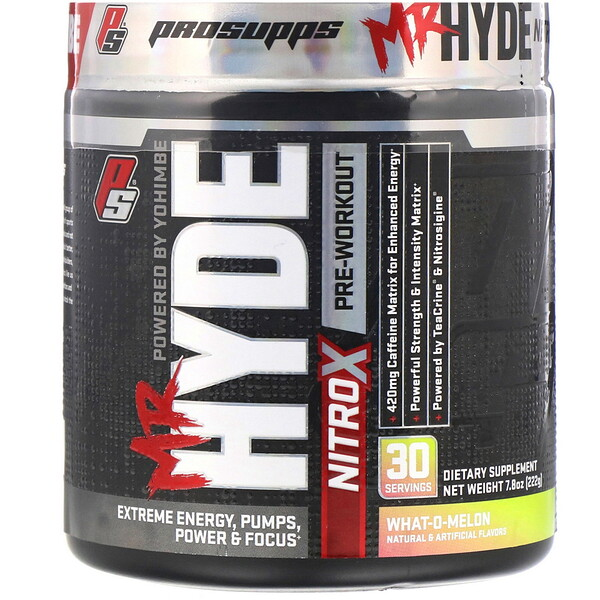 Mr.Hyde, NitroX, предтренировочный комплекс со вкусом арбуза, 222г (7,8унции)