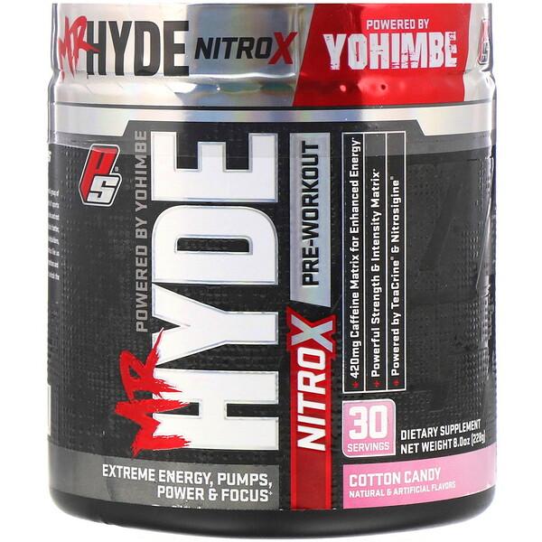 Mr.Hyde, NitroX, предтренировочный комплекс со вкусом сладкой ваты, 228г (8унций)
