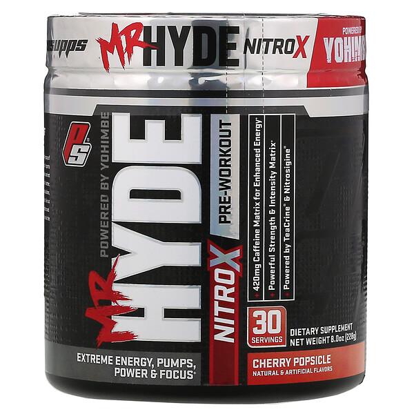 Mr.Hyde, NitroX, предтренировочный комплекс со вкусом вишневого мороженого, 228г (8,0унций)