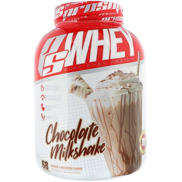 PS Whey, Chocolate Milkshake, 5 lb (2267 g)
