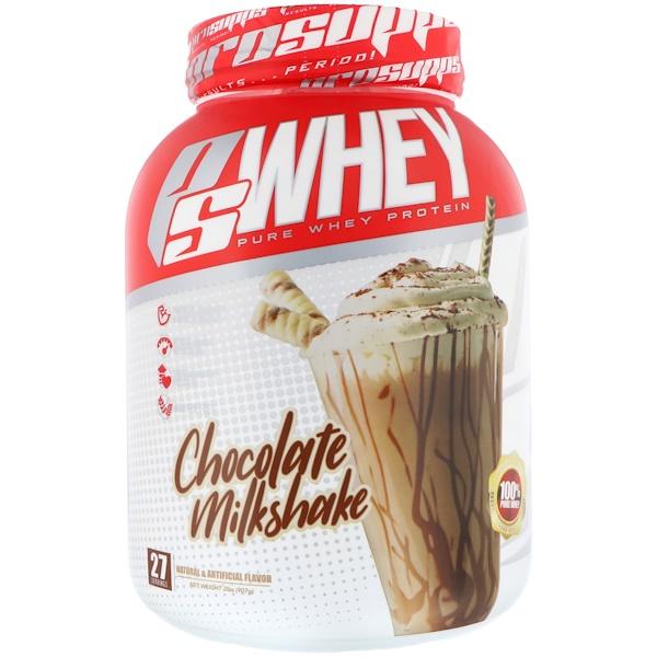 PS Whey, Chocolate Milkshake, 2 lb (907 g)