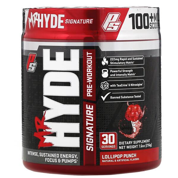 Mr Hyde, фирменный предтренировочный комплекс, со вкусом карамельного пунша, 216г (7,6унции)