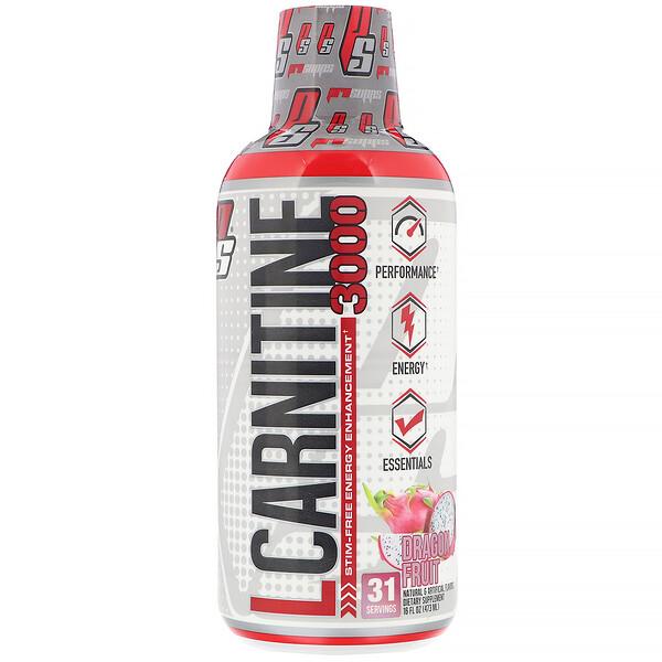 L-Carnitine 3000, Dragonfruit, 3,000 mg, 16 fl oz (473 ml)