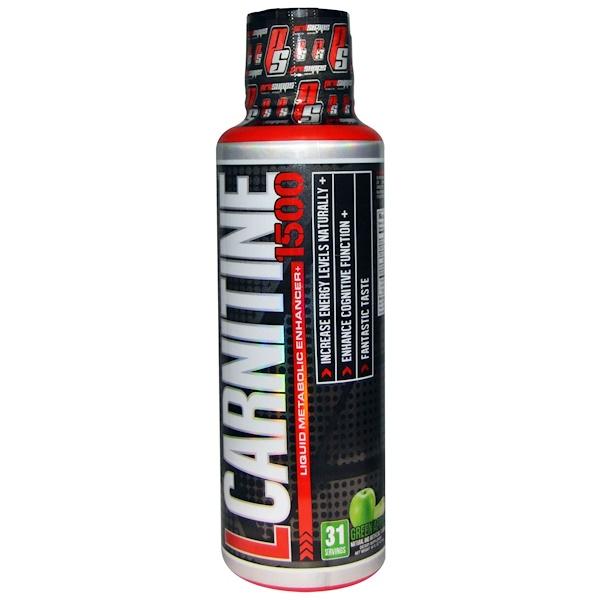 L-Carnitine 1500, Green Apple, 1,500 mg, 16 fl oz (473 ml)