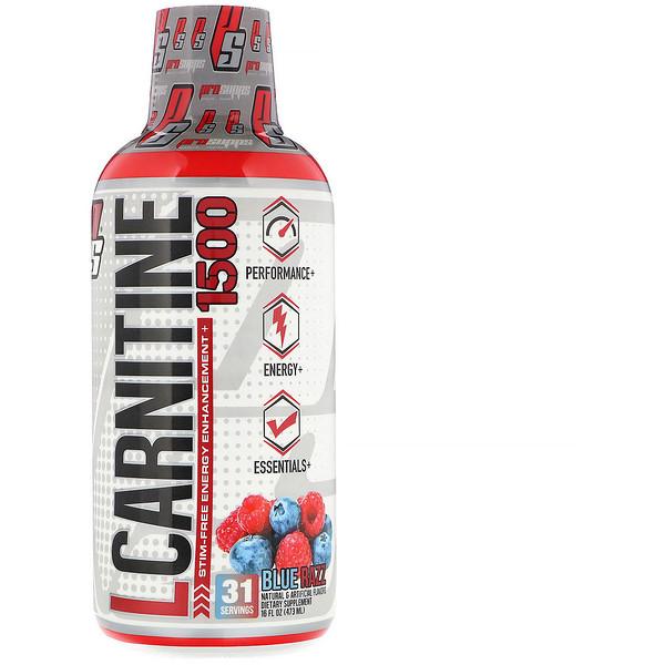 L-Carnitine 1500, Blue Razz, 1,500 mg, 16 fl oz (473 ml)