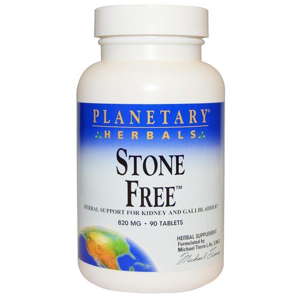 Planetary Herbals, Stone Free, 820 мг, 90 таблеток
