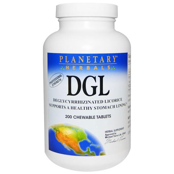 DGL, глицирризинат солодки, 200 жевательных таблеток