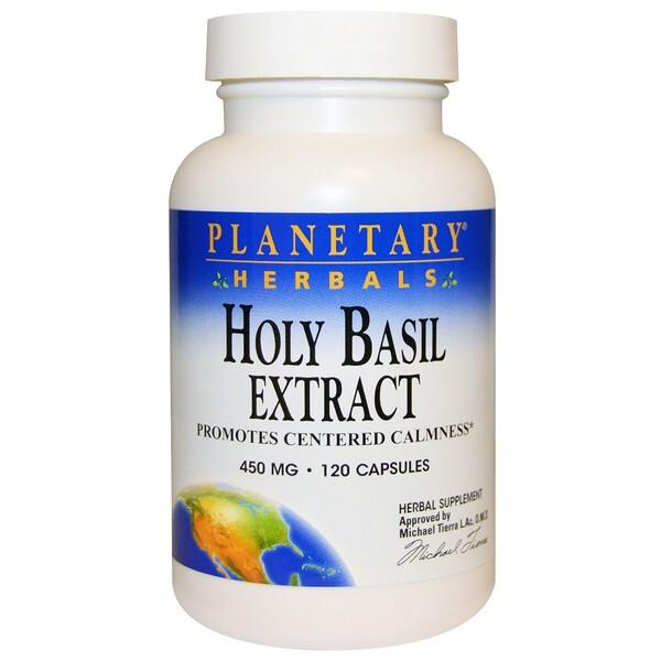 Planetary Herbals, Экстракт базилика священного, 450 мг, 120 капсул