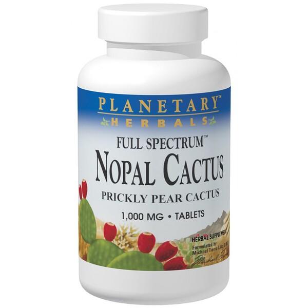 Мексиканский нопал, кактус-опунция полного спектра, 1000 мг, 120 таблеток