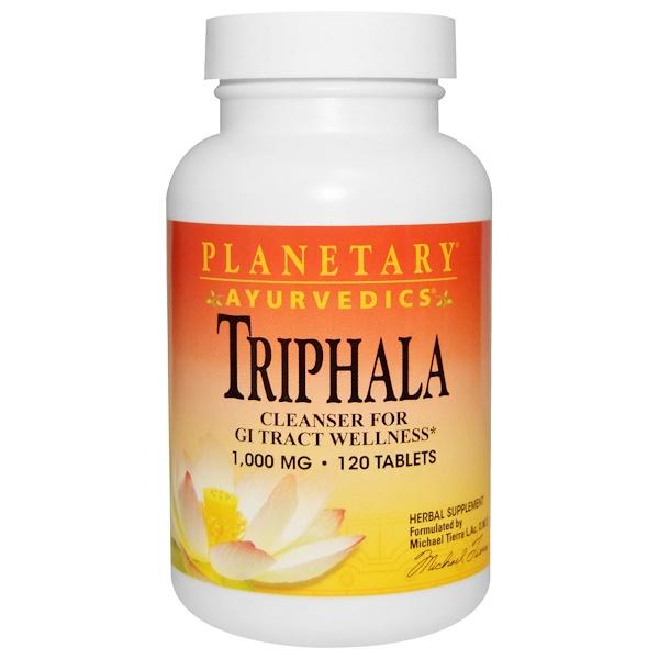 Ayurvedics, Triphala, 1000 мг, 120 таблеток