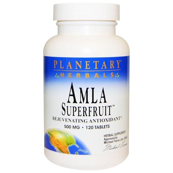 Суперфрукт амла, омолаживающий антиоксидант, 500 мг, 120 таблеток