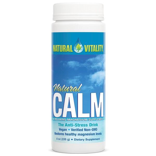 Natural Calm, напиток против стресса, оригинальный (без вкусовых добавок), 226 г