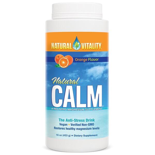 Natural Calm, антистрессовый напиток с натуральным апельсиновым вкусом, 453 г (16 унций)