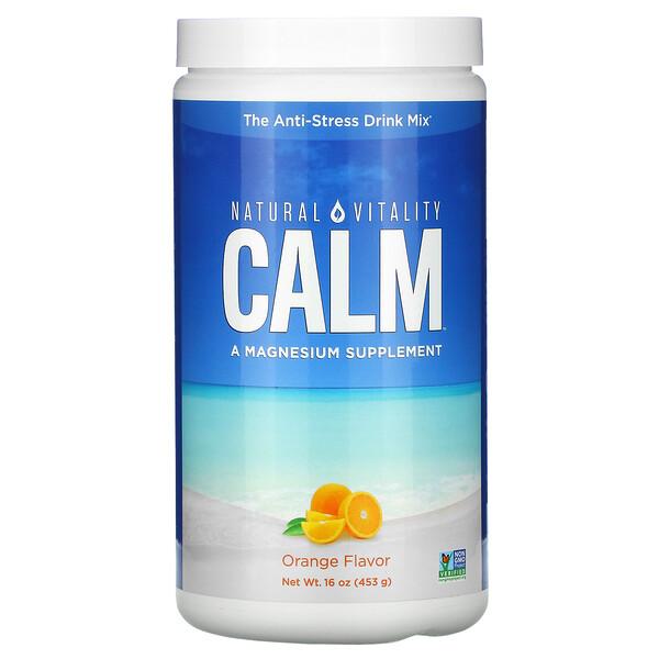 CALM, смесь для приготовления антистресс-напитка, апельсин, 453г (16унций)