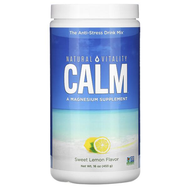 CALM, The Anti-Stress Drink Mix,  Sweet Lemon Flavor, 16 oz (453 g)