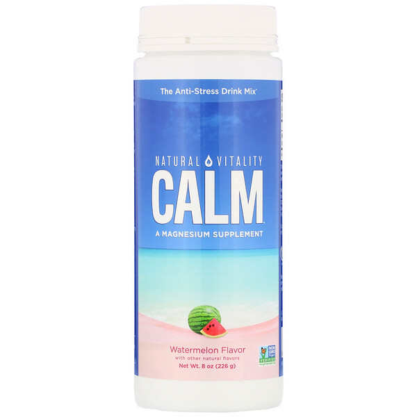Natural Vitality, Calm, The Anti-Stress Drink Mix, Watermelon, 8 oz (226 g)