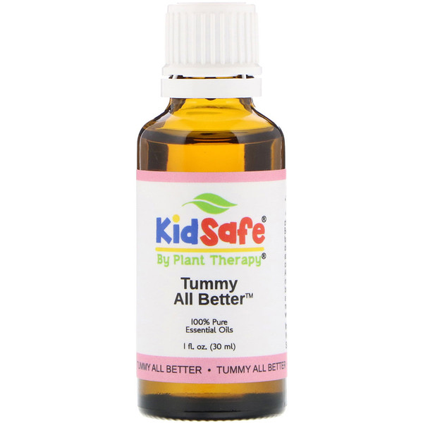 KidSafe, 100% Pure Essential Oil, Tummy All Better, 1 fl oz (30 ml)