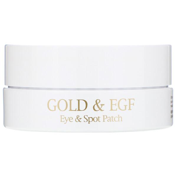 Gold & EGF, патчи для глаз/прыщей, 60 патчей на глаза/30 патчей на прыщи