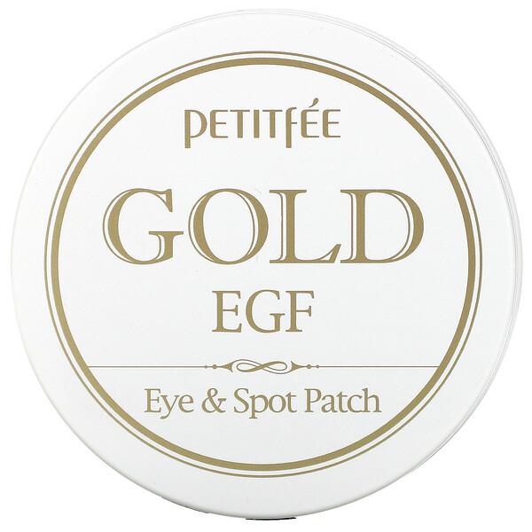 золото и эпидермальный фактор роста (EGF), патчи для глаз и от прыщей, 60патчей для глаз и 30патчей от прыщей