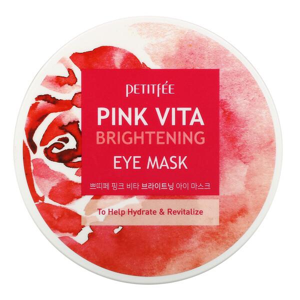 Petitfee, Pink Vita Brightening Eye Mask, 60 Pieces