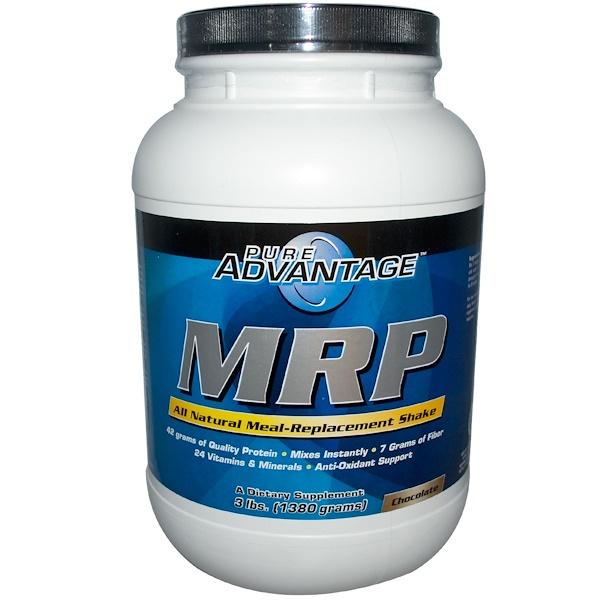 Pure Advantage, MRP, Заменитель пищи, со вкусом шоколада, 3 фунта (1380 г) (Discontinued Item)