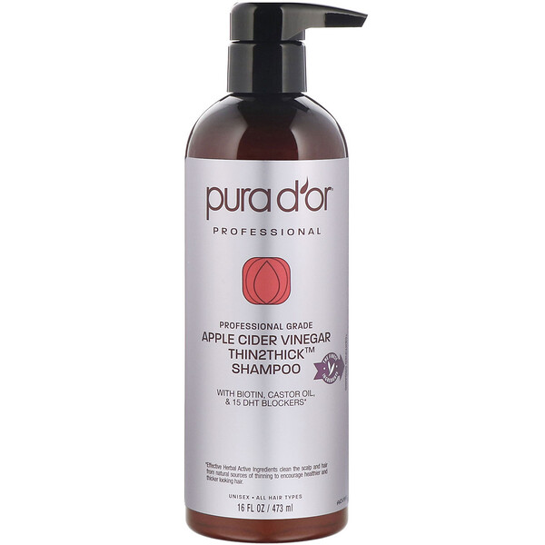 Professional, Apple Cider Vinegar, Thin2Thick, Shampoo, 16 fl oz (473 ml)