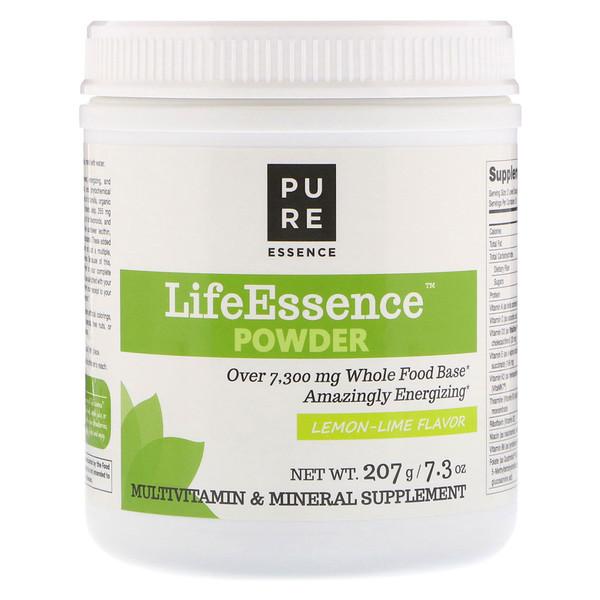 Pure Essence, Порошок LifeEssence, со вкусом лимона и лайма, 207г (Discontinued Item)