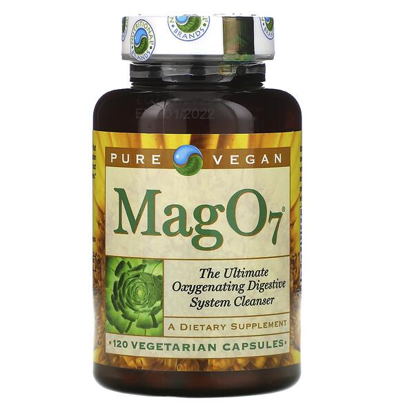 Mag 07, высокоэффективное окисляющее средство для очистки пищеварительной системы, 120вегетарианских капсул