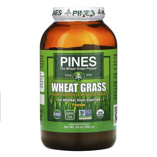 Pines, ростки пшеницы, порошок, 24 унции (680 г)
