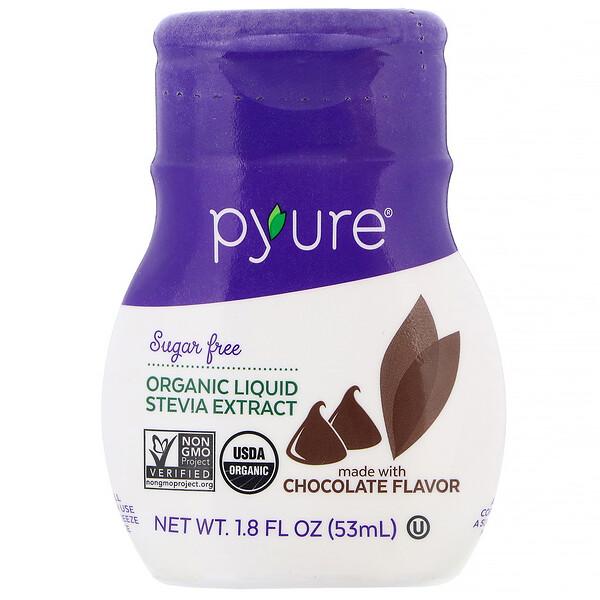 Органический жидкий экстракт стевии, шоколад, 53мл (1,8жидк.унции)