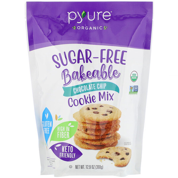 Organic Bakeable, Sugar-Free Cookie Mix, Chocolate Chip, 12.9 oz (368 g)