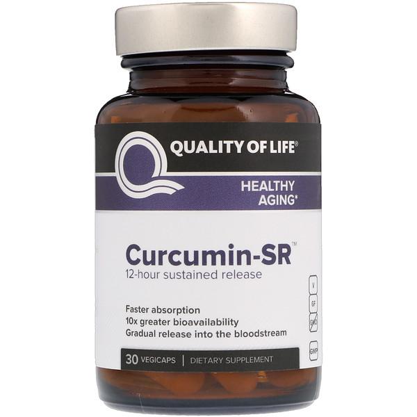 Quality of Life Labs, Curcumin-SR, 30 растительных капсул