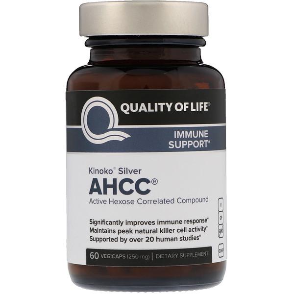 Quality of Life Labs, Kinoko Silver, активное гексозо-коррелированное соединение, 250мг, 60растительных капсул (Discontinued Item)