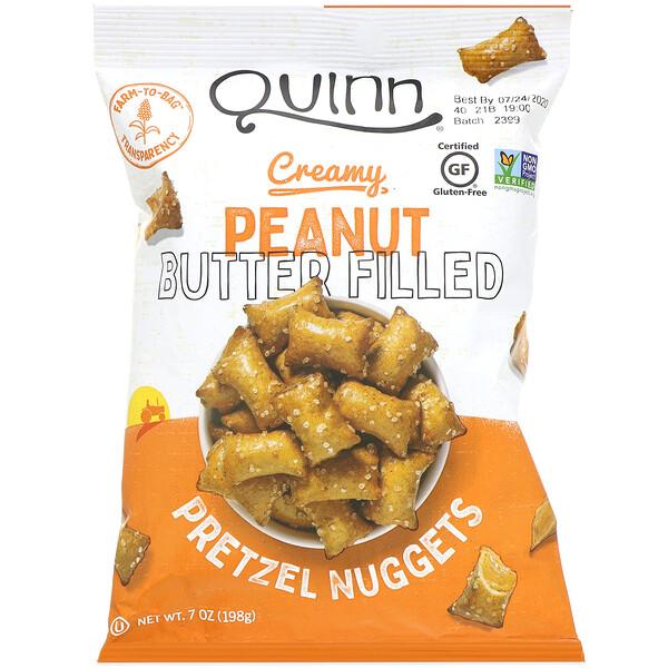 Quinn Popcorn, Подушечки с кремовой арахисовой пастой, 198г (7унций)
