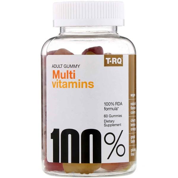 Жевательные мультивитамины для взрослых, со вкусом вишни, лимона и апельсина, 60жевательных таблеток