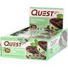 Quest Nutrition, Белковый батончик, вкус кусочков мятного шоколада, 12 батончиков, 2,12 унции (60 г) каждый