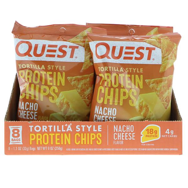 Quest Nutrition, Протеиновые чипсы а-ля тортилья, со вкусом сыра для начос, 32г (1,1унции) (Discontinued Item)