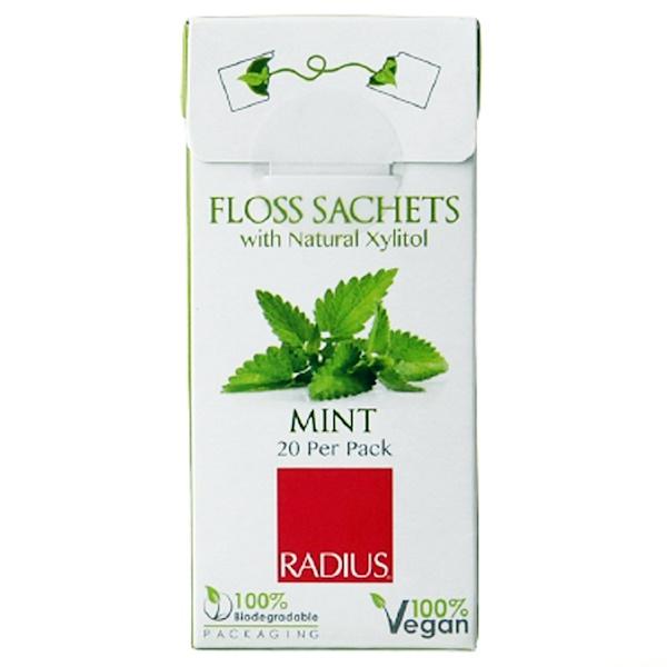 RADIUS, Вегетарианский ксилитовый пакетик с мятой, упаковка из 20 шт. (Discontinued Item)