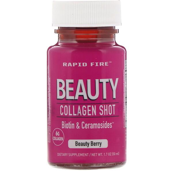 Beauty Collagen Shot, Biotin & Ceramosides, коллагеновый напиток для сохранения красоты, ягода, 6г, 50мл (1,7унции)