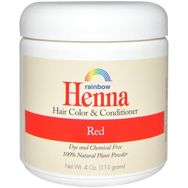 Rainbow Research, хна, краска и кондиционер для волос, красный цвет, 113 г (4 унции)