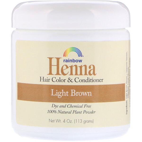 Хна, краска и кондиционер для волос, светло-коричневый, 113г (4 унции)