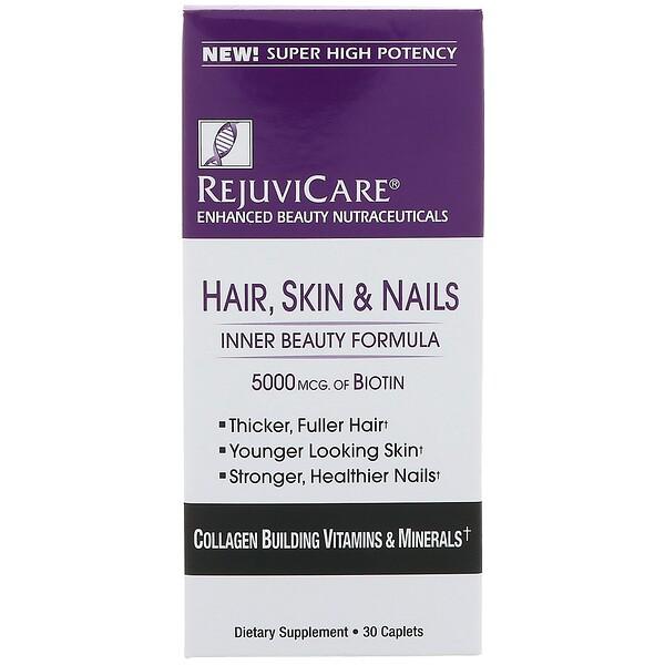 Hair, Skin & Nails, Inner Beauty Formula, 5000 mcg of Biotin, 30 Caples