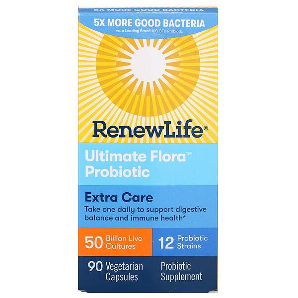 Renew Life, Пробиотики Ultimate Flora максимального действия, 50 млрд живых культур, 90 вегетарианских капсул (Discontinued Item)