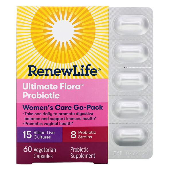 Ultimate Flora Probiotic, пробиотики для женщин с 15 млрд живых культур, 60 растительных капсул