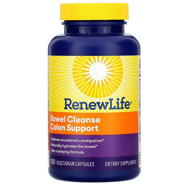 Renew Life, Bowel Cleanse Colon Support, 150 Vegetarian Capsules