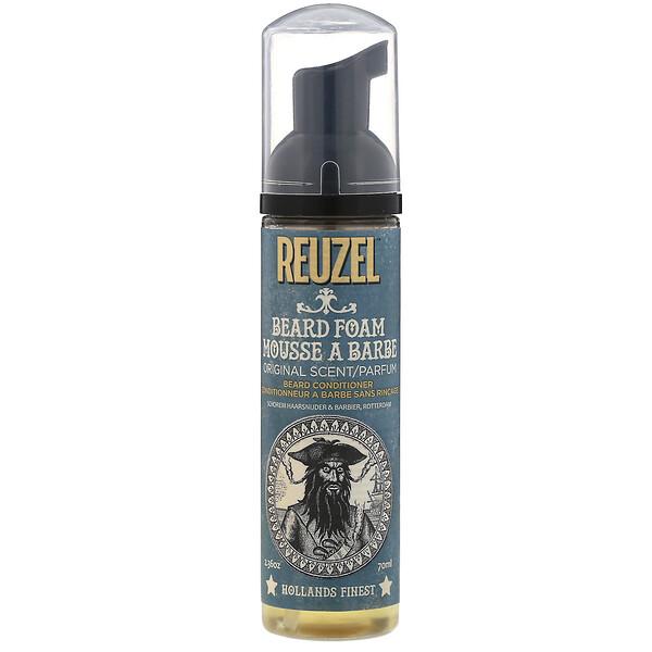 Reuzel, Beard Foam, Conditioner, Original Scent, 2.36 oz (70 ml) (Discontinued Item)